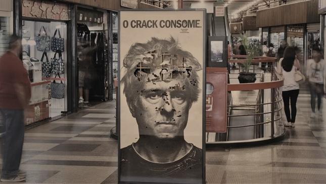 Campaña para demostrar los efectos dañinos del consumo de cocaína.